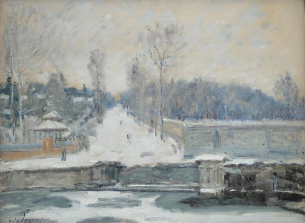 Alfred Sisley Oluk Marly Kralı Tarafından, Kanvas Tablo, Alfred Sisley, kanvas tablo, canvas print sales