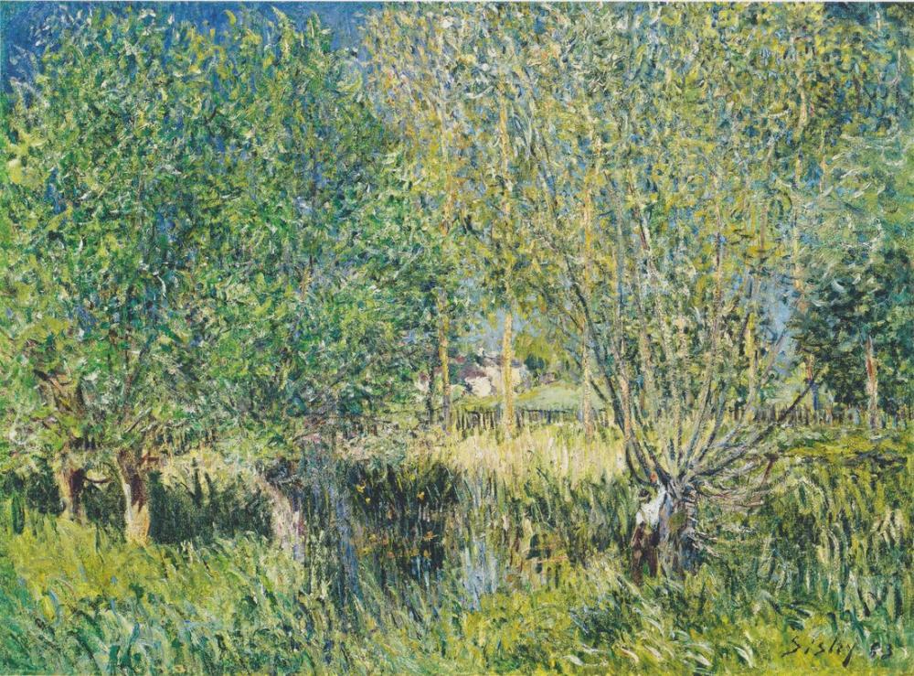Alfred Sisley Weiden am Ufer der Orvanne, Canvas, Alfred Sisley, kanvas tablo, canvas print sales