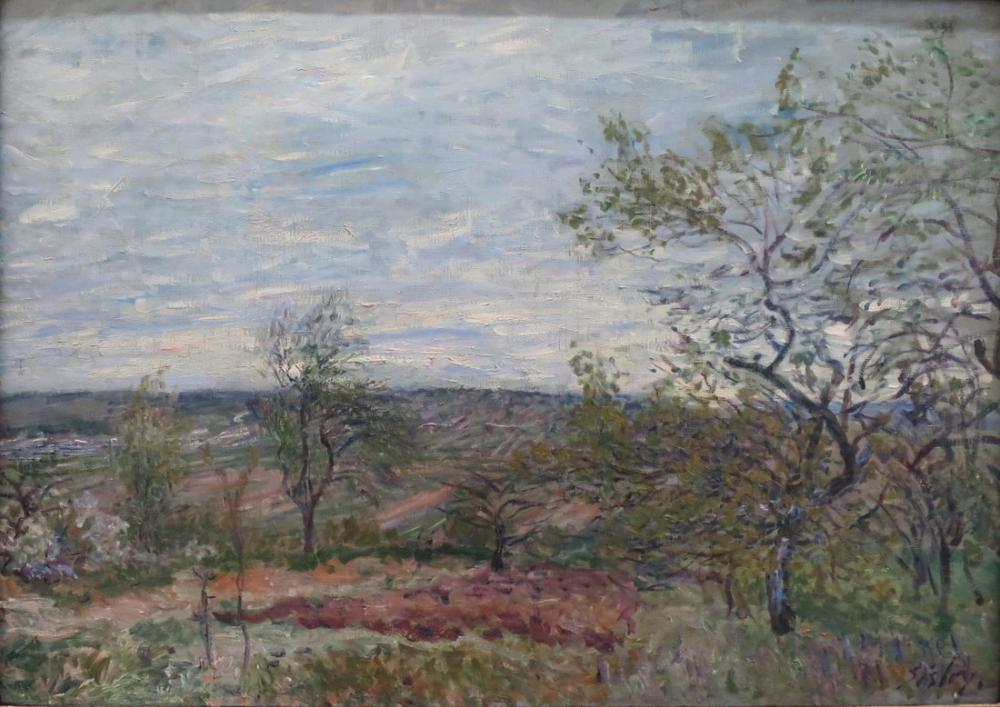 Alfred Sisley Windy Day, Canvas, Alfred Sisley, kanvas tablo, canvas print sales