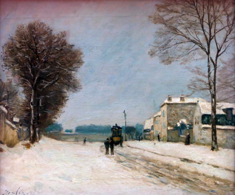 Alfred Sisley Winter Effect, Canvas, Alfred Sisley, kanvas tablo, canvas print sales