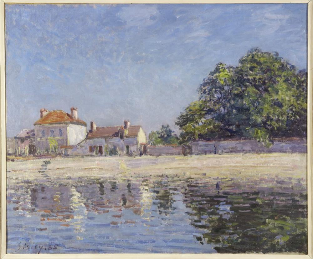 Alfred Sisley The River Loing At Saint Mammes, Canvas, Alfred Sisley