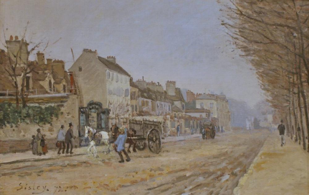 Alfred Sisley Bougival Heloıse Argenteuil, Kanvas Tablo, Alfred Sisley, kanvas tablo, canvas print sales