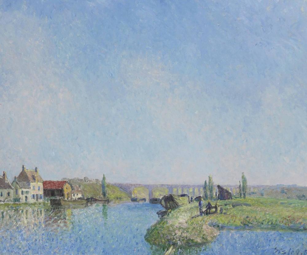 Alfred Sisley Loing Kanalı II, Kanvas Tablo, Alfred Sisley