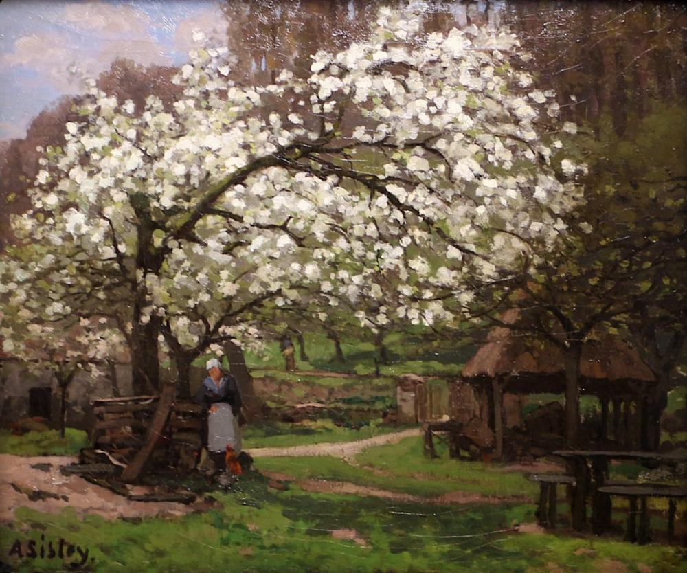 Alfred Sisley Country Spring Under Fruit Trees Approx, Canvas, Alfred Sisley, kanvas tablo, canvas print sales