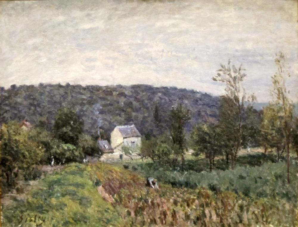 Alfred Sisley Evening Outskirts Of Paris, Canvas, Alfred Sisley, kanvas tablo, canvas print sales
