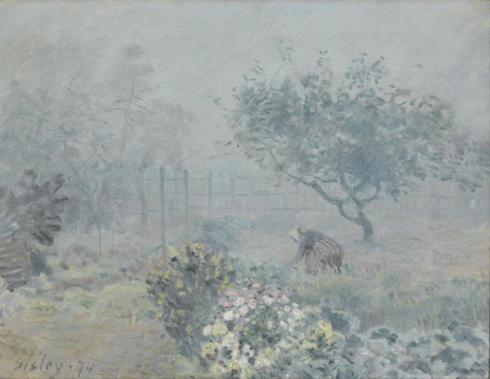 Alfred Sisley Sis Komşuları, Kanvas Tablo, Alfred Sisley