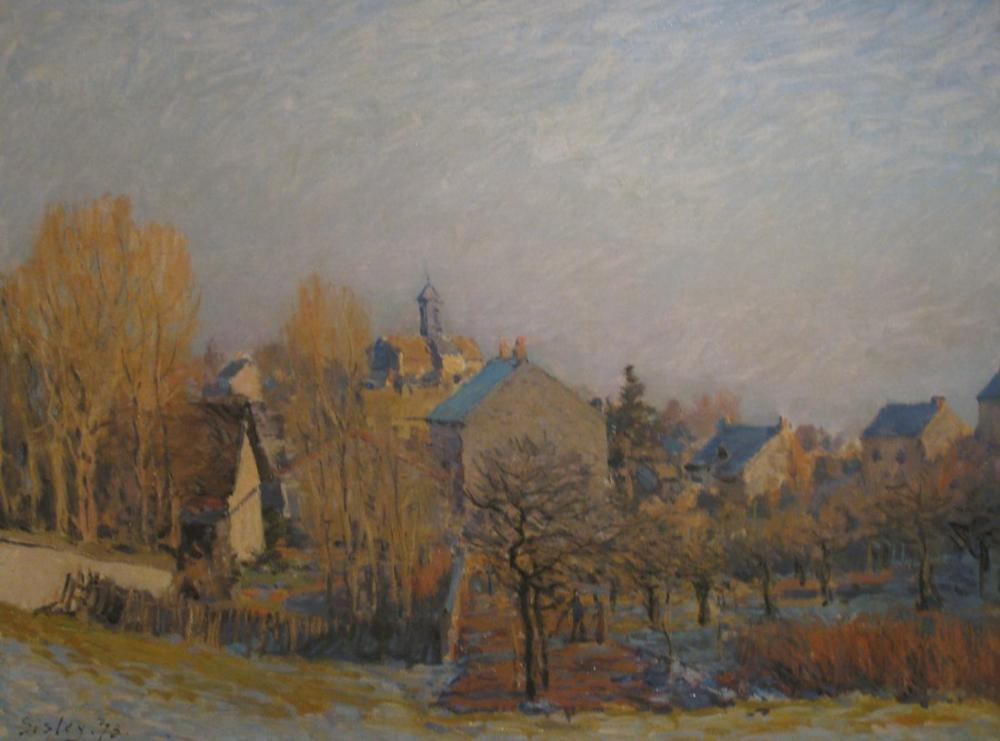 Alfred Sisley Frosty Morning, Canvas, Alfred Sisley, kanvas tablo, canvas print sales