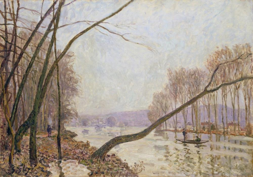 Alfred Sisley Its Shores In The Autumn Anagoria, Canvas, Alfred Sisley