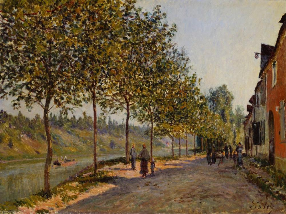 Alfred Sisley Haziran Sabahı Saint Mammes, Kanvas Tablo, Alfred Sisley