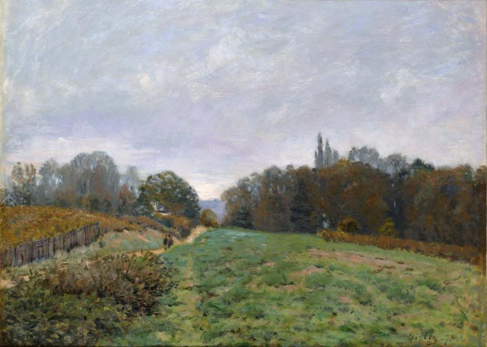 Alfred Sisley Landscape At Louveciennes, Canvas, Alfred Sisley, kanvas tablo, canvas print sales