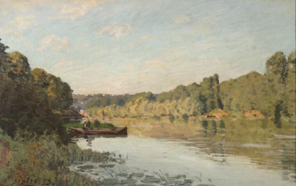 Alfred Sisley Manzara Bougival Ulusal Müzesi, Kanvas Tablo, Alfred Sisley
