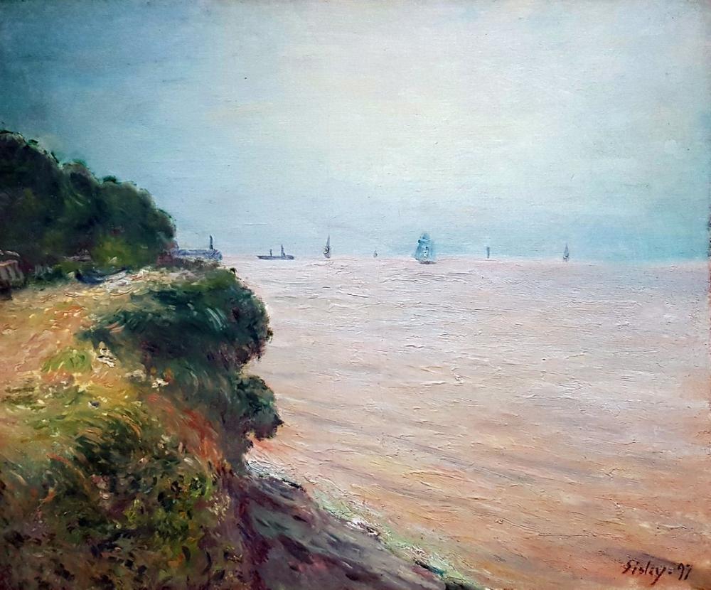 Alfred Sisley Langland Körfezi Anagoria, Kanvas Tablo, Alfred Sisley, kanvas tablo, canvas print sales