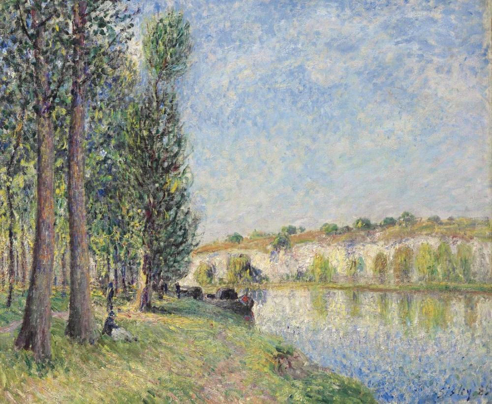 Alfred Sisley Le Loing A Moret, Canvas, Alfred Sisley, kanvas tablo, canvas print sales
