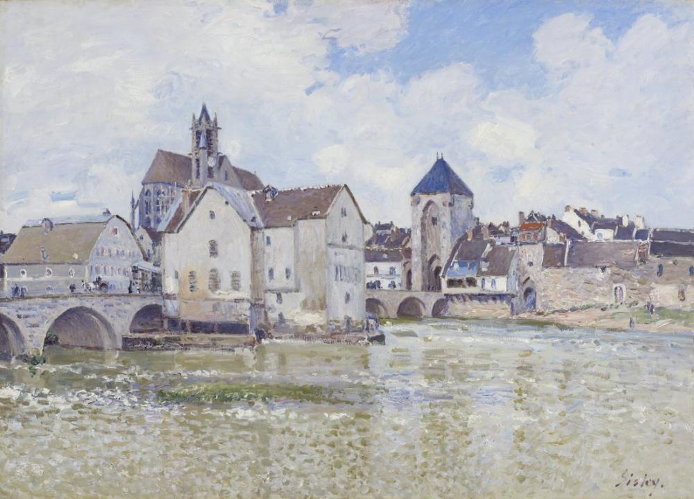 Alfred Sisley Moret Köprüsü, Kanvas Tablo, Alfred Sisley, kanvas tablo, canvas print sales