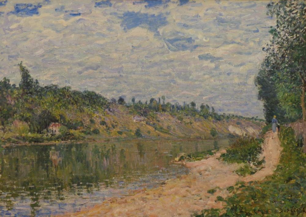 Alfred Sisley The Hills, Canvas, Alfred Sisley, kanvas tablo, canvas print sales