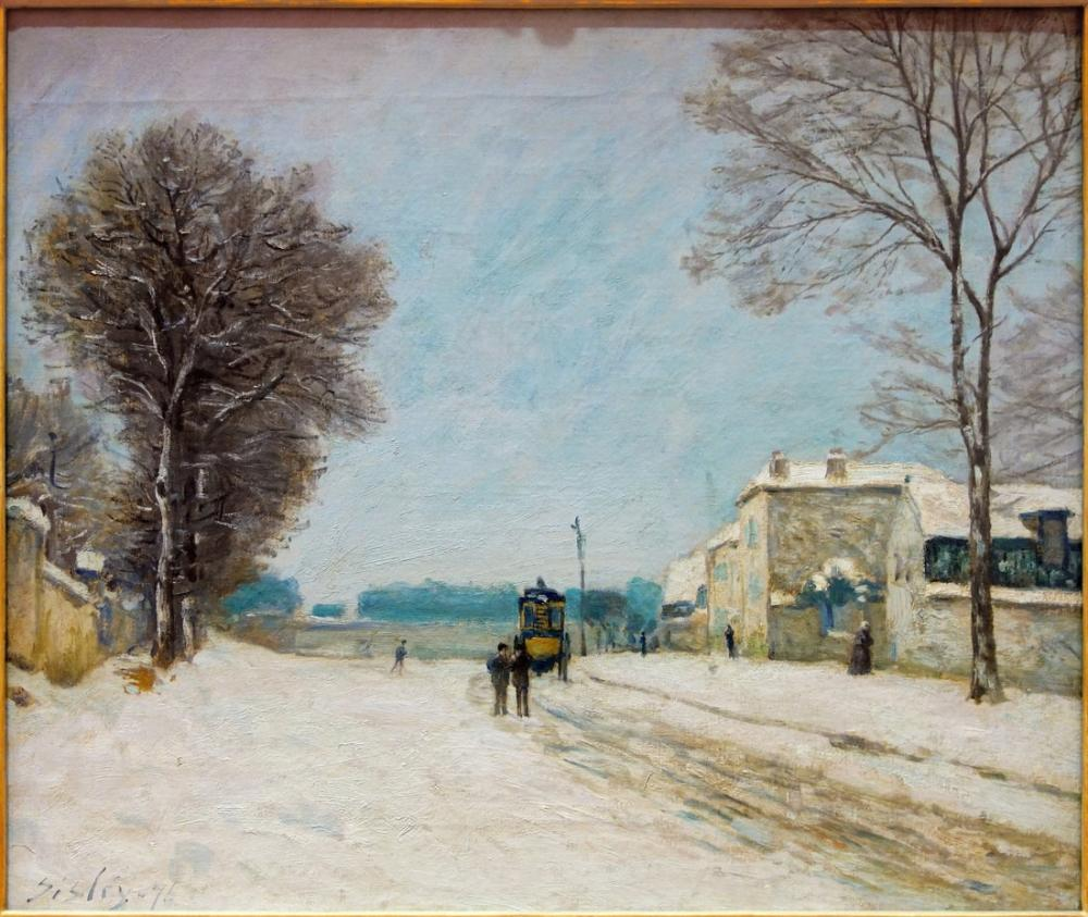 Alfred Sisley Kış Lille, Kanvas Tablo, Alfred Sisley, kanvas tablo, canvas print sales