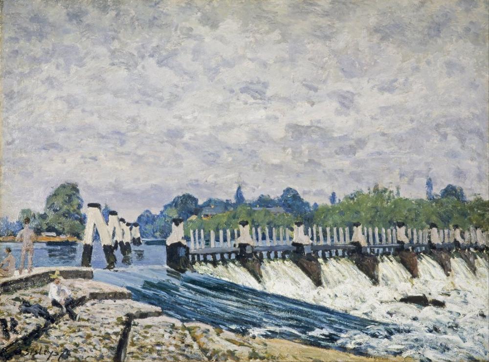 Alfred Sisley Molesey Hampton Savağı, Kanvas Tablo, Alfred Sisley