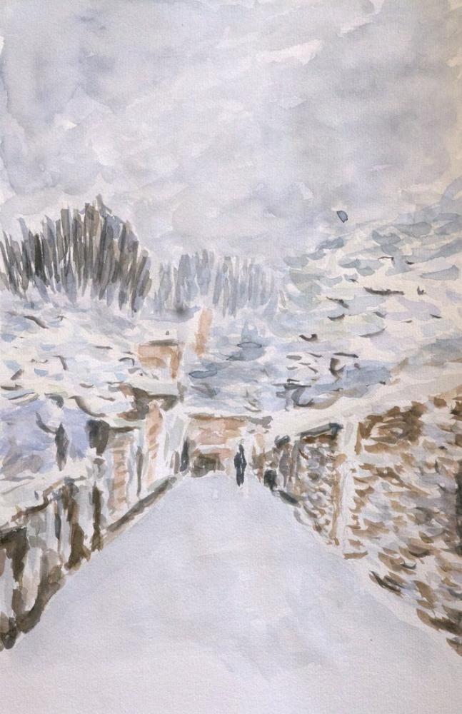 Alfred Sisley Şimdi Louveciennes, Kanvas Tablo, Alfred Sisley