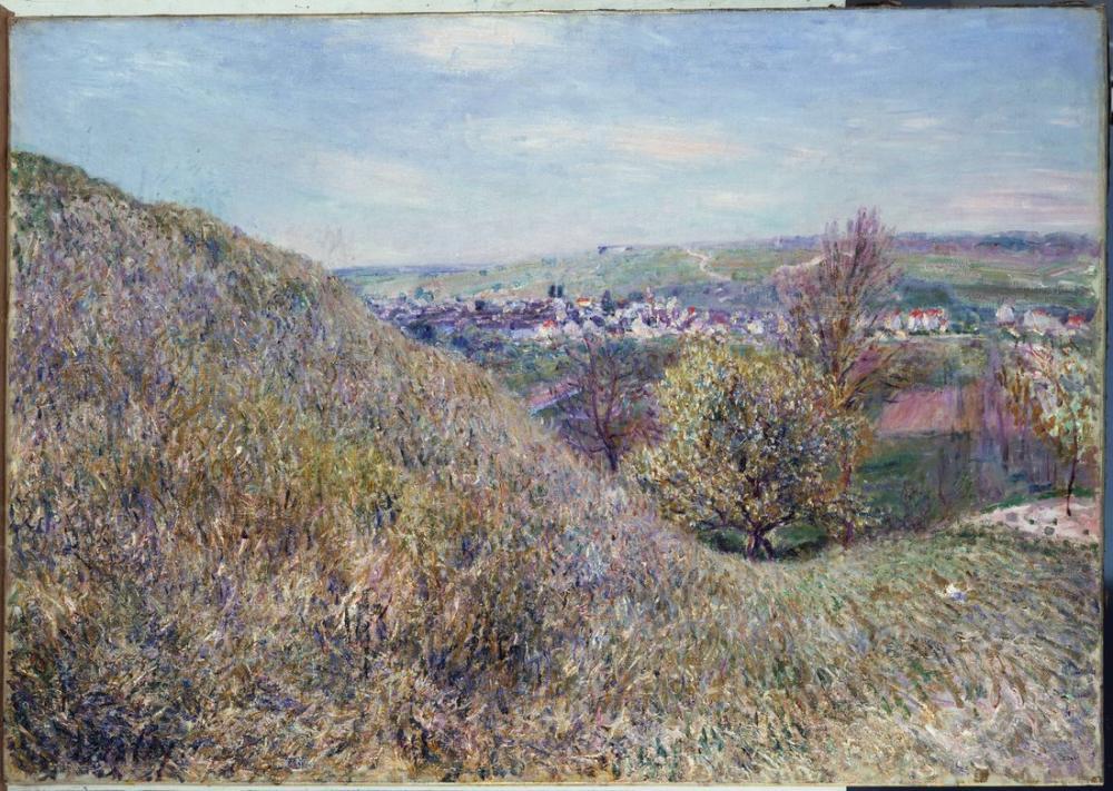 Alfred Sisley Bahar Sabahları Moret Tepelerinde, Kanvas Tablo, Alfred Sisley