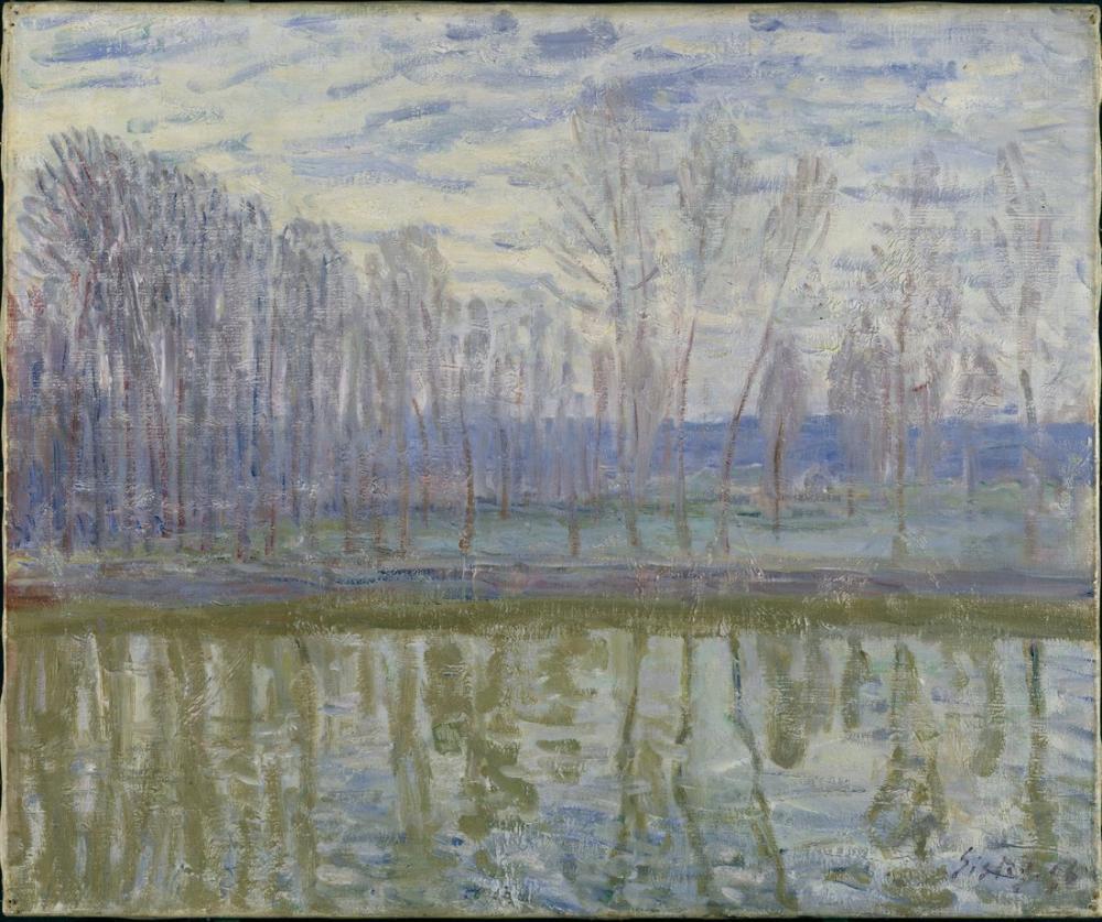 Alfred Sisley Loing Kıyısında, Kanvas Tablo, Alfred Sisley