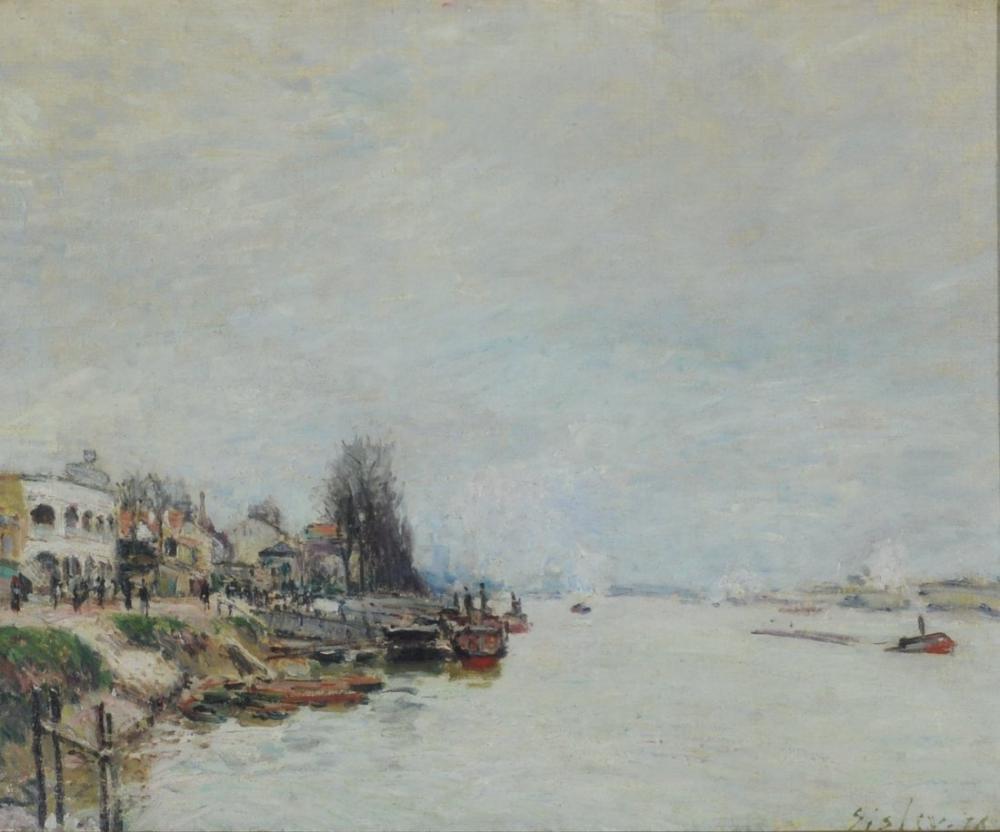 Alfred Sisley Günün Noktası, Kanvas Tablo, Alfred Sisley, kanvas tablo, canvas print sales