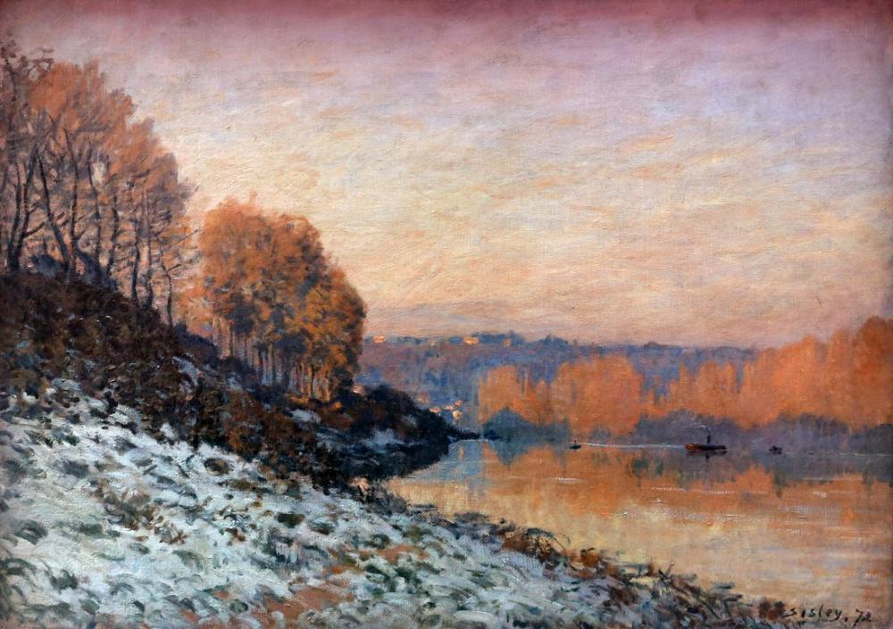 Alfred Sisley Liman Marly Beyaz Don, Kanvas Tablo, Alfred Sisley, kanvas tablo, canvas print sales