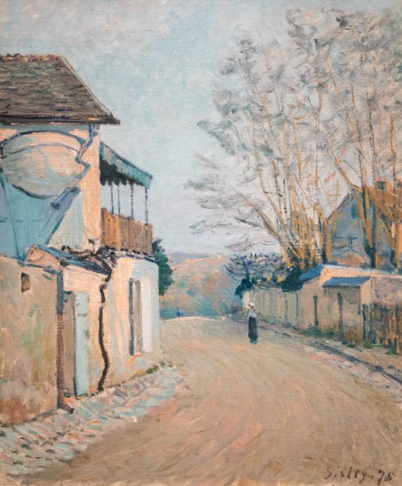 Alfred Sisley Princess Kış Caddesi, Kanvas Tablo, Alfred Sisley, kanvas tablo, canvas print sales