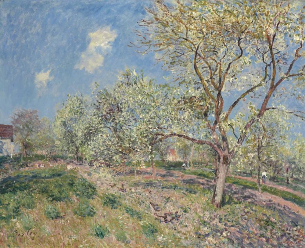 Alfred Sisley İlkbahar Veneux, Kanvas Tablo, Alfred Sisley