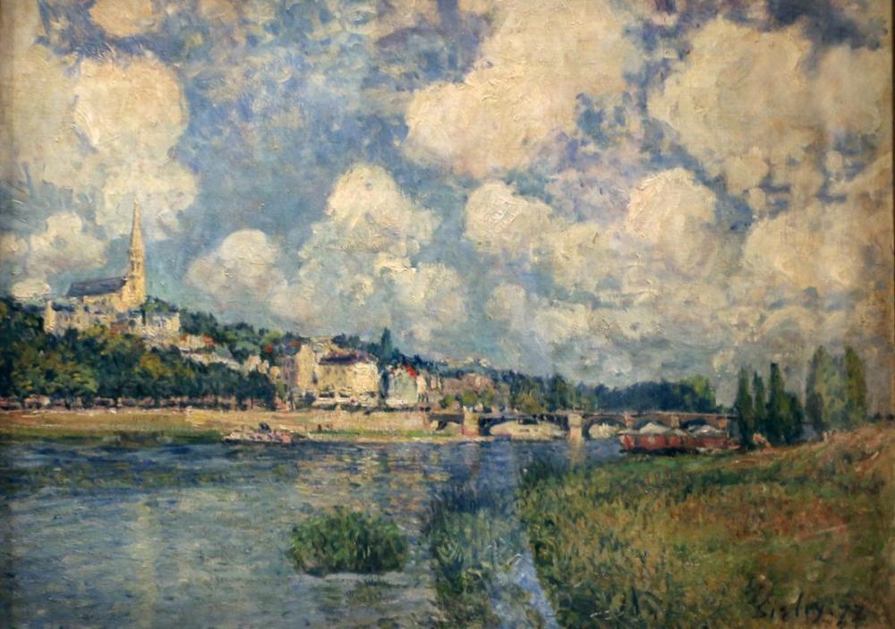 Alfred Sisley Saint Cloud, Kanvas Tablo, Alfred Sisley
