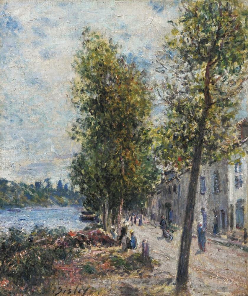 Alfred Sisley Saint Mammes, Kanvas Tablo, Alfred Sisley