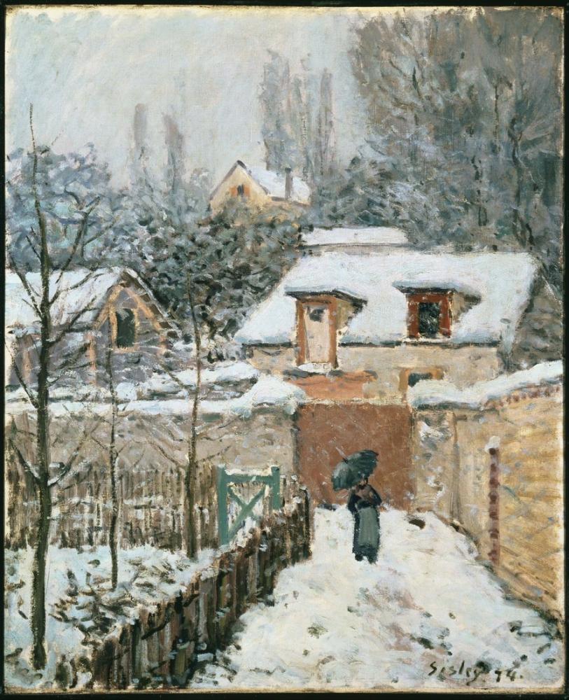 Alfred Sisley Kar Louveciennes, Kanvas Tablo, Alfred Sisley