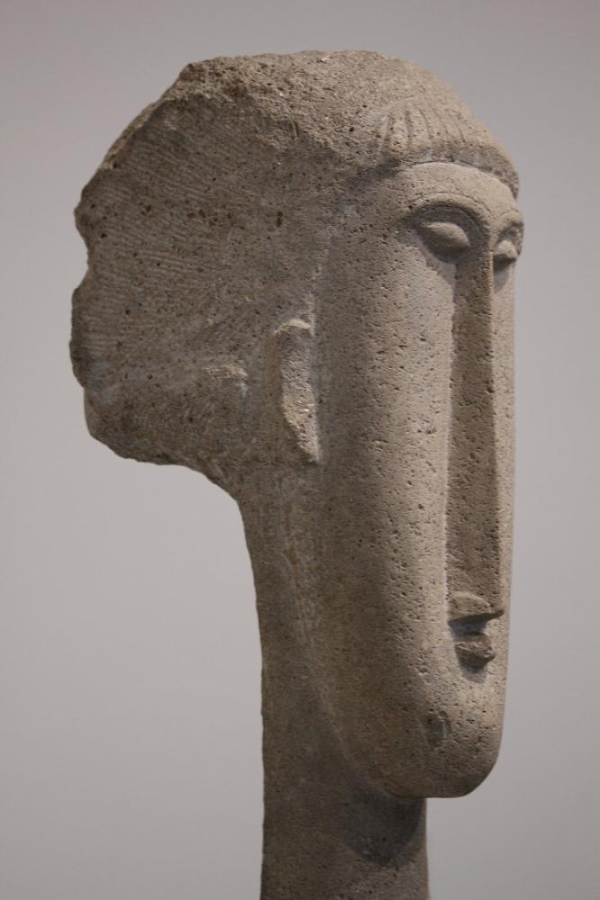 Amedeo Modigliani, Bir Kadın Başı, Kanvas Tablo, Amedeo Modigliani