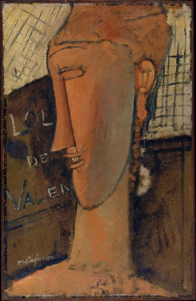 Amedeo Modigliani, Lola de Valence, Kanvas Tablo, Amedeo Modigliani