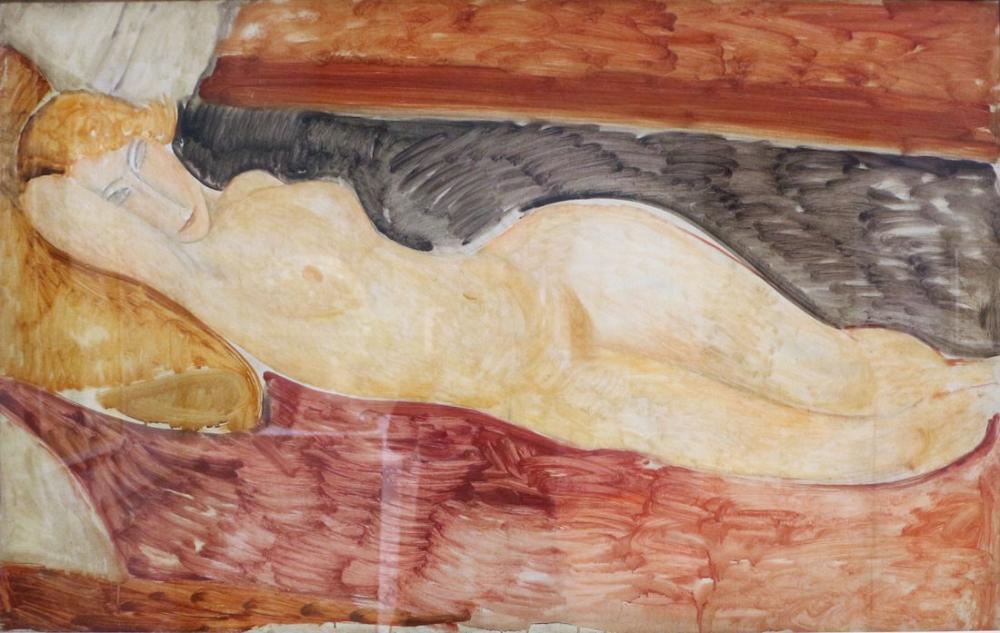 Amedeo Modigliani, Çıplak Uzanmak, Kanvas Tablo, Amedeo Modigliani