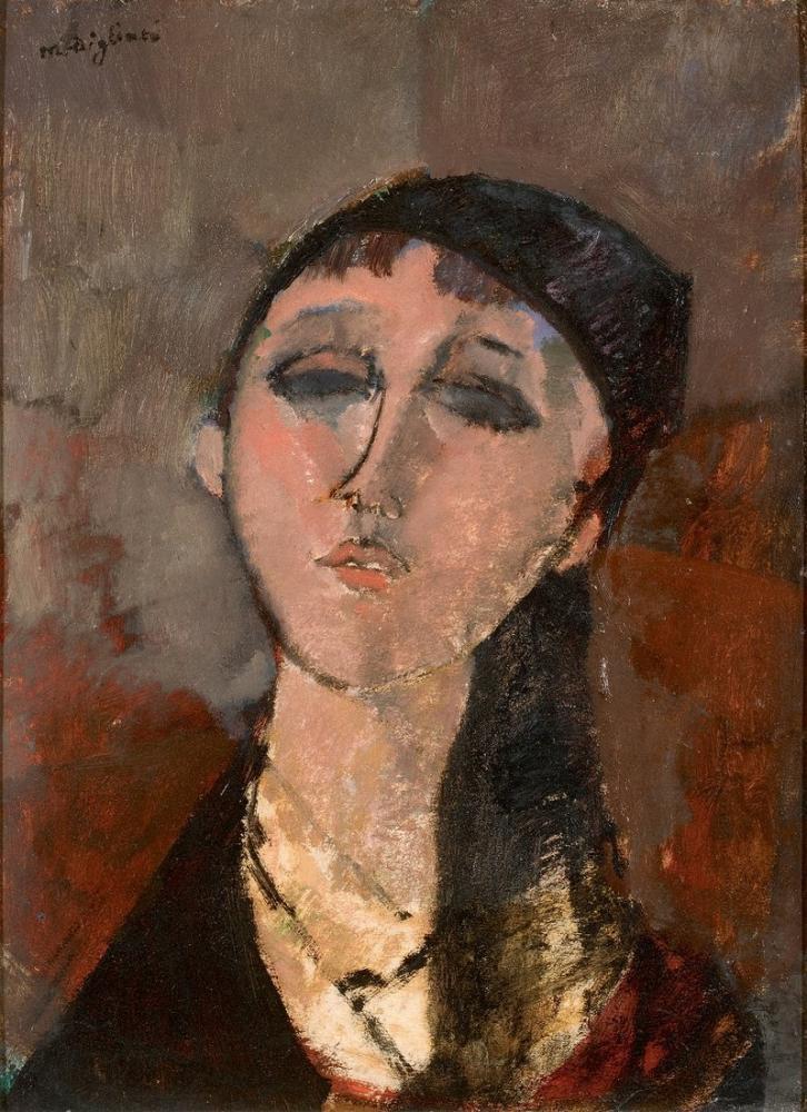 Amedeo Modigliani, Bir Genç Kız Louise Portresi, Kanvas Tablo, Amedeo Modigliani