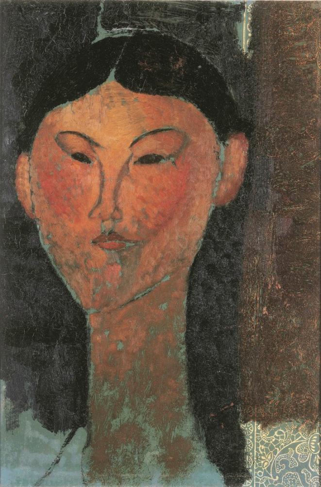 Amedeo Modigliani, Beatrice Hastings Portresi, Kanvas Tablo, Amedeo Modigliani