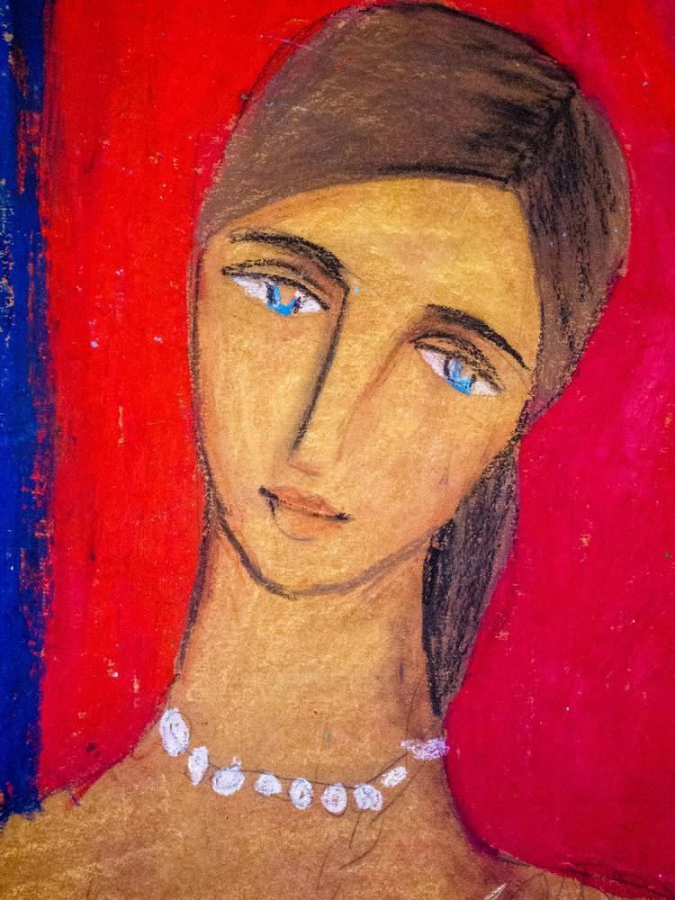Amedeo Modigliani, İlhamlı Boyama, Kanvas Tablo, Amedeo Modigliani