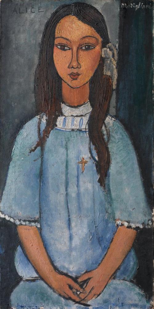 Amedeo Modigliani, Alice, Kanvas Tablo, Amedeo Modigliani