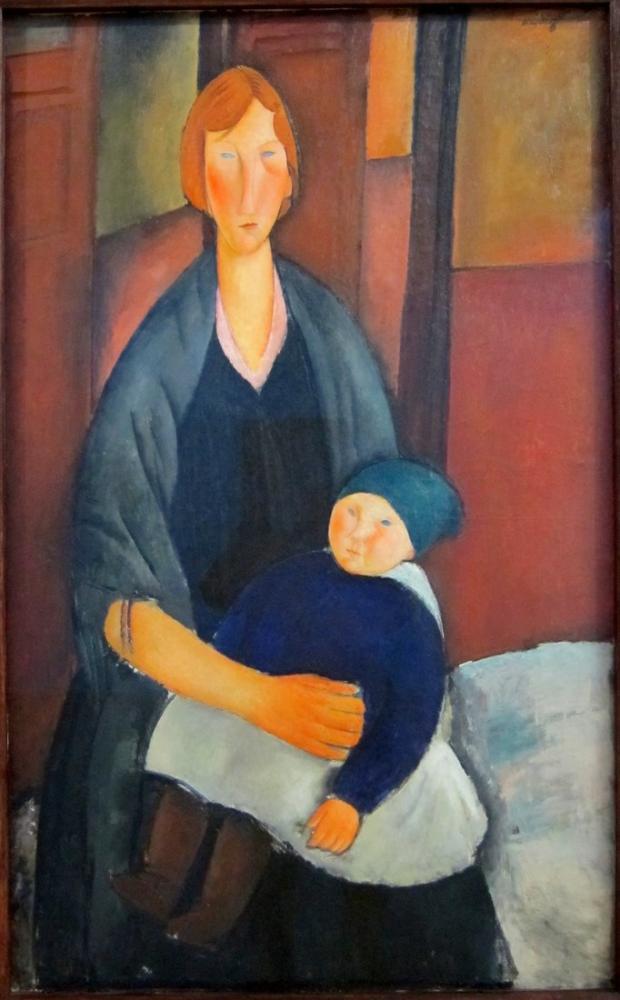 Amedeo Modigliani, Lam Anneliği, Kanvas Tablo, Amedeo Modigliani
