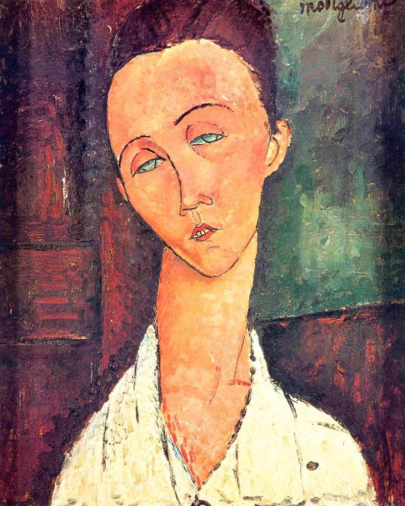 Amedeo Modigliani, Lunia Czechowska Portresi, Kanvas Tablo, Amedeo Modigliani