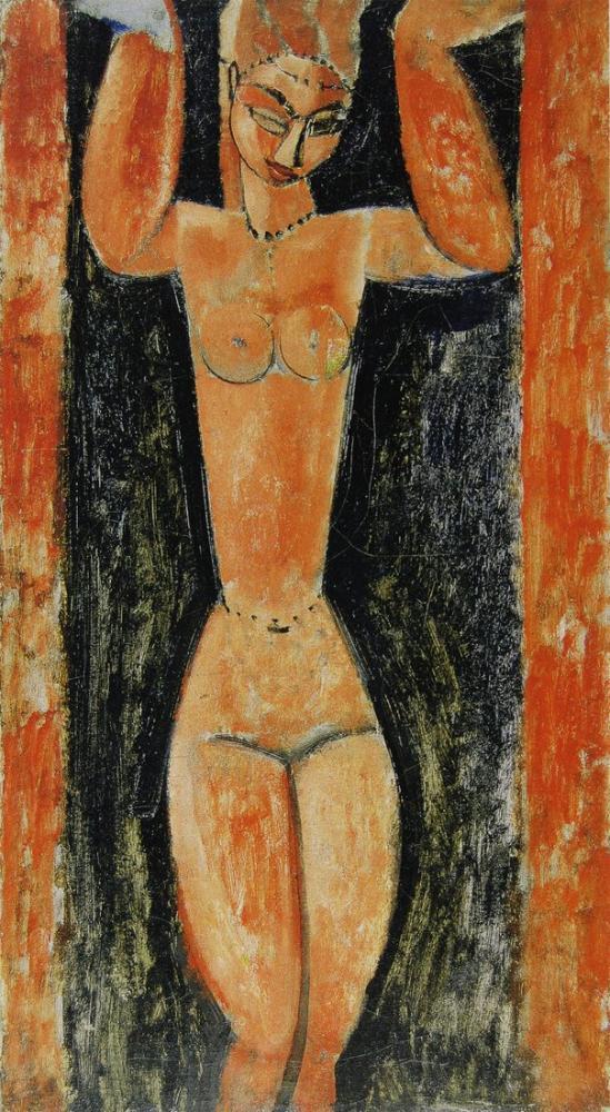 Amedeo Modigliani, Ayakta Caryatid, Kanvas Tablo, Amedeo Modigliani