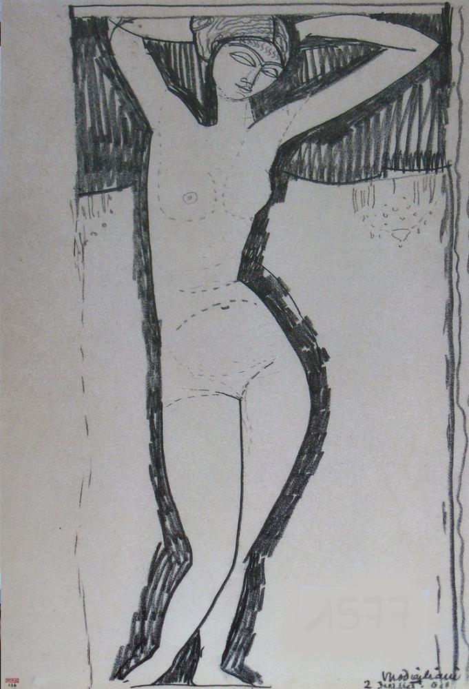 Amedeo Modigliani, Çıplak, Kanvas Tablo, Amedeo Modigliani