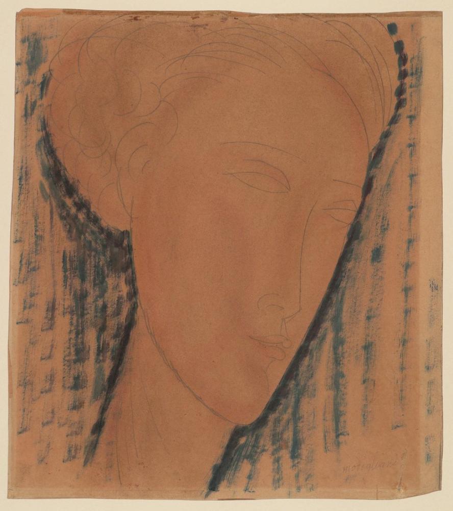 Amedeo Modigliani, Bir Kız Başı, Kanvas Tablo, Amedeo Modigliani