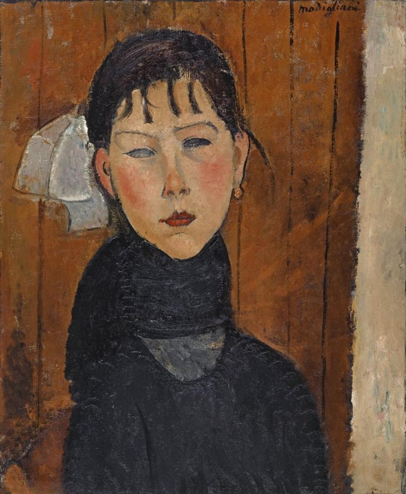 Amedeo Modigliani, Marie Halkın Kızı, Kanvas Tablo, Amedeo Modigliani