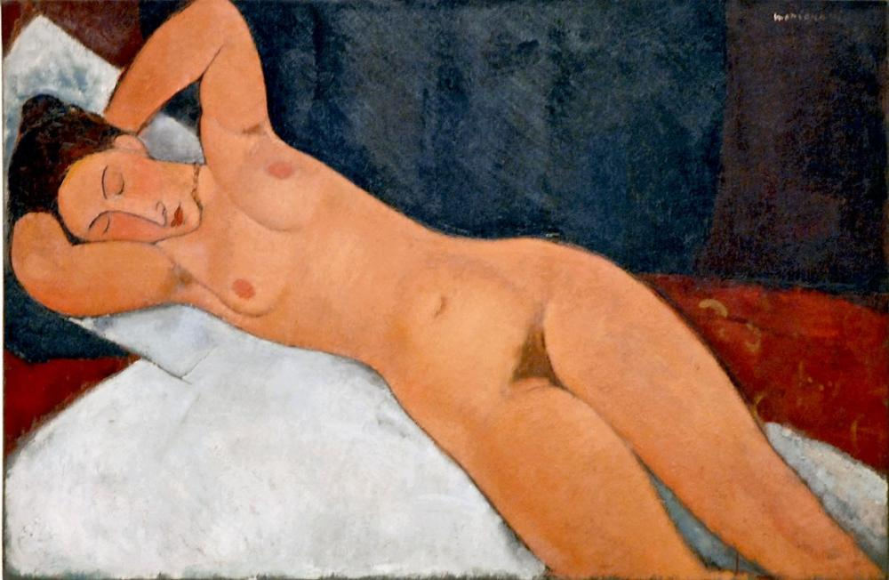 Amedeo Modigliani, Çıplak, Kanvas Tablo, Amedeo Modigliani, kanvas tablo, canvas print sales