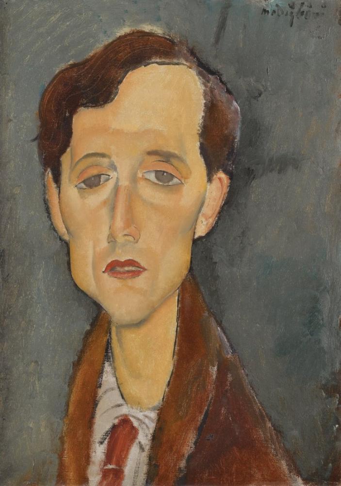 Amedeo Modigliani, Frans Hellens Portresi, Kanvas Tablo, Amedeo Modigliani