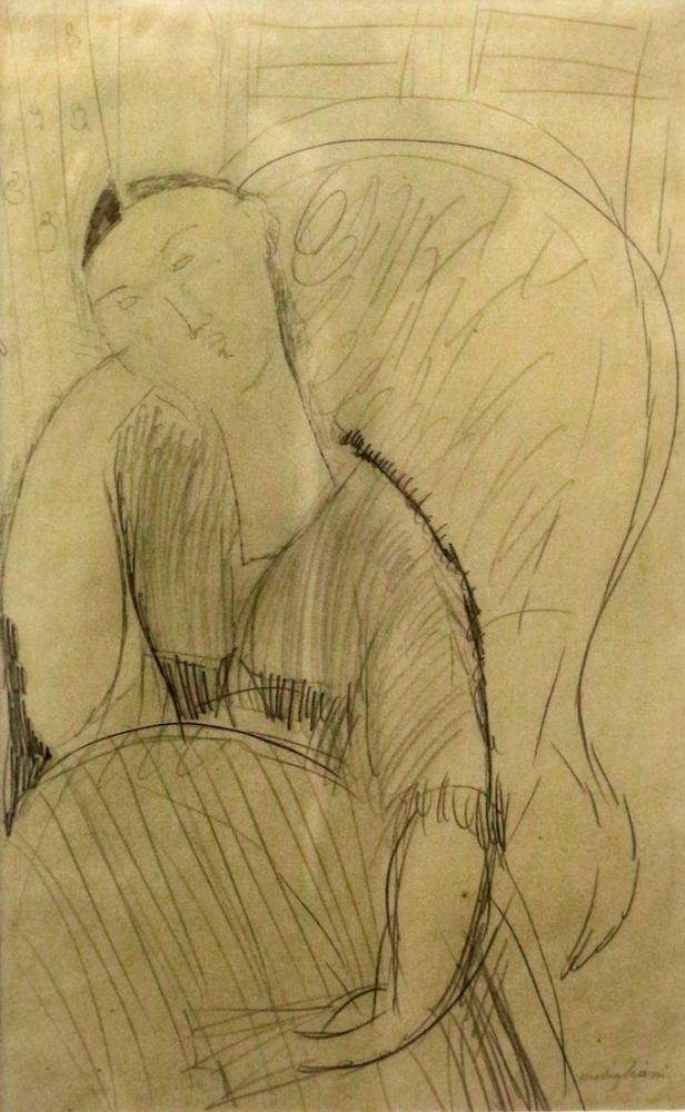 Amedeo Modigliani, Koltukta Madam Hastings, Kanvas Tablo, Amedeo Modigliani