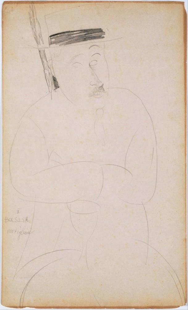 Amedeo Modigliani, Adolphe Basler Portresi, Kanvas Tablo, Amedeo Modigliani