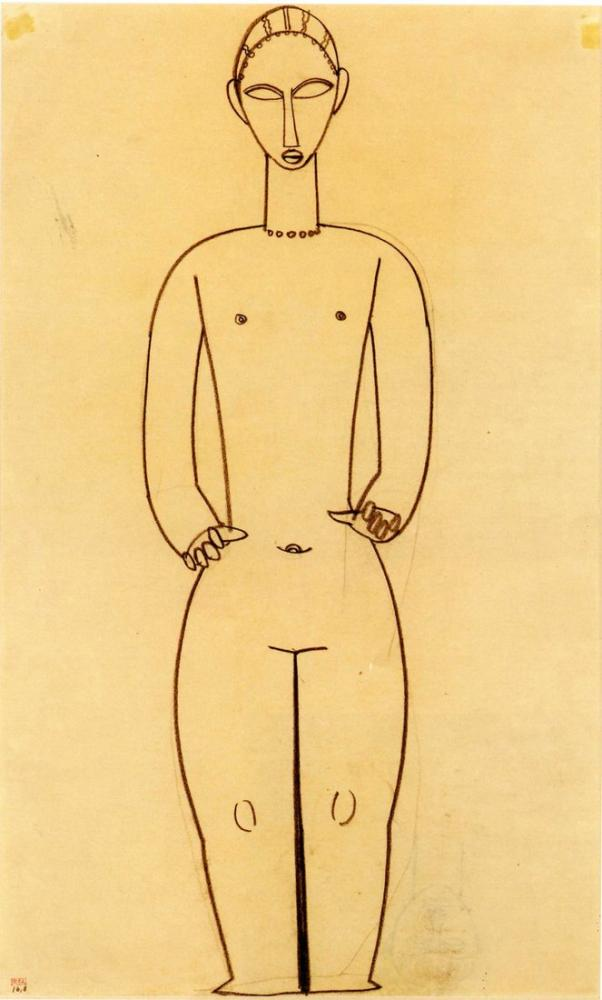 Amedeo Modigliani, Hermafrodit, Kanvas Tablo, Amedeo Modigliani