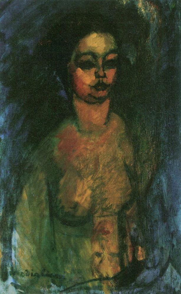 Amedeo Modigliani, Çıplak (Küçük Jeanne), Kanvas Tablo, Amedeo Modigliani